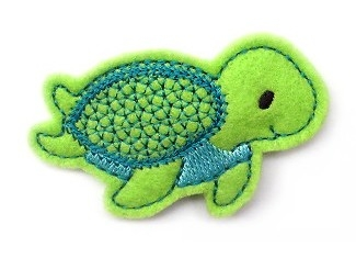 Sea Turtle Clip Cover Felt Stitchies