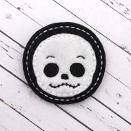Skeleton Head Felt Stitchies