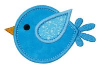 Flying Bubble Birdie Applique