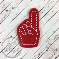 Foam Finger Felt Stitchies