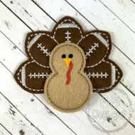 Football Turkey Felt Stitchies