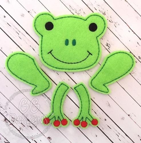 Frog Set Oversized Bow Parts Feltie