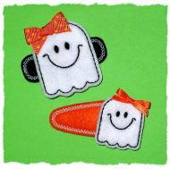 Smiley Ghost Felt Stitchies