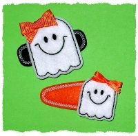 Smiley Ghost Felt Stitchies