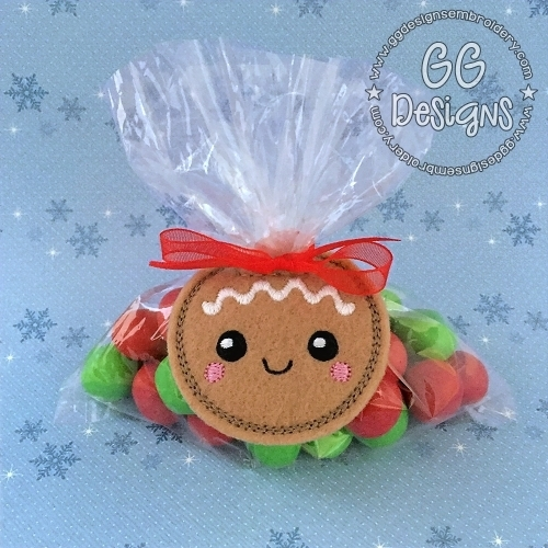 Gingerbread Baby Treat Bag Topper
