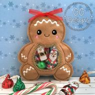 Gingerbread Peekaboo Treat Bag