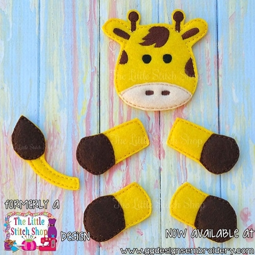 Giraffe Set Oversized Bow Parts Feltie
