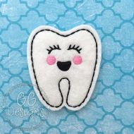 Girly Tooth Felt Stitchies