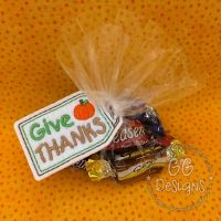 Give Thanks Treat Bag Topper