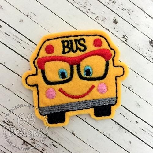Happy Bus Felt Stitchies