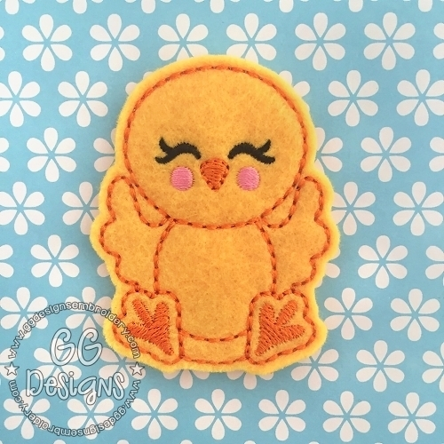 Happy Chicken Felt Stitchies