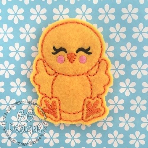 Happy Chicken Felt Stitchies