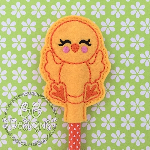 Happy Chicken Pencil Topper