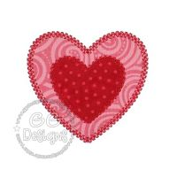 FREE Vintage Double Heart Applique