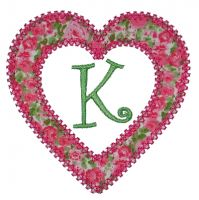 Heart Applique Font Frame