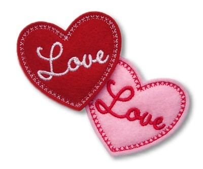 Love Heart Clip Cover Felt Stitchies