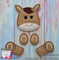 Horse Set Oversized Bow Parts Feltie