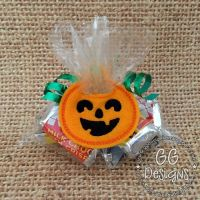 Jack O Lantern Treat Bag Topper