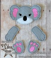 Koala Oversized Bow Parts Feltie