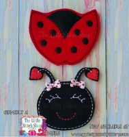 Ladybug Set Oversized Bow Parts Feltie
