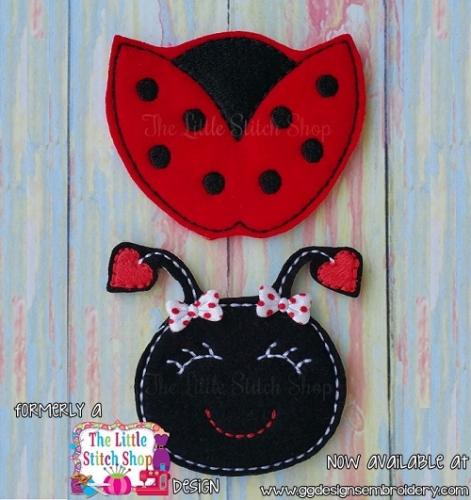 Ladybug Set Oversized Bow Parts Feltie