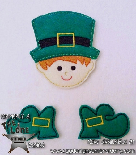 Leprechaun Set Oversized Bow Parts Feltie