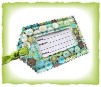 Shabby Luggage Tag