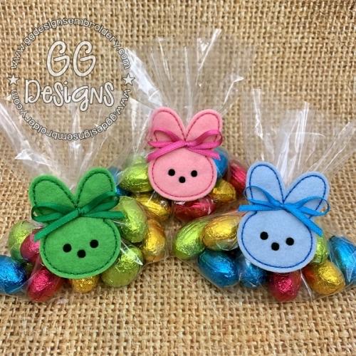 Marshmallow Bunny Treat Bag Topper