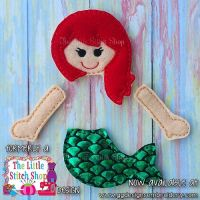 Mermaid Set Oversized Bow Parts Feltie