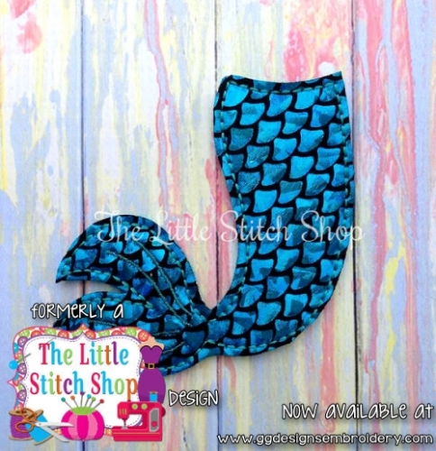 Mermaid Tail Oversized Feltie