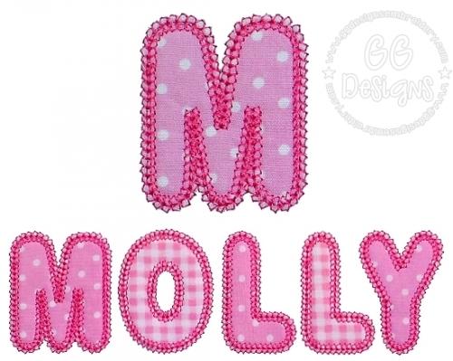 Mini Molly Applique Alphabet