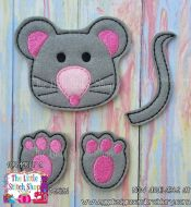 Mouse Set Oversized Bow Parts Feltie