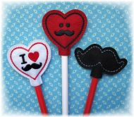 Mustache Pencil Toppers