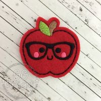 Nerd Apple Felt Stitchies