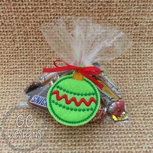 Christmas Ornament Treat Bag Topper