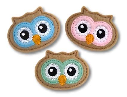Owl Face Clip Cover Felt Stitchies