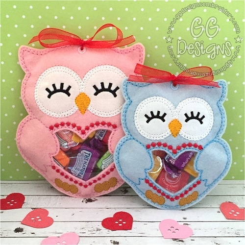 Valentine Owl Peekaboo Treat Bag