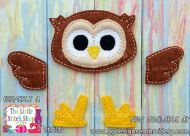 Owl Set Oversized Bow Parts Feltie