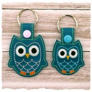 Owl Snap Tab Key Fob