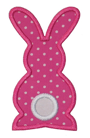 Bunny Silhouette Applique