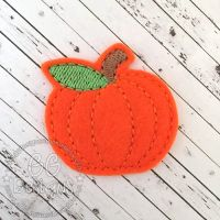 Plain Pumpkin Felt Stitchies