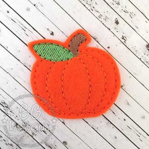 Plain Pumpkin Felt Stitchies