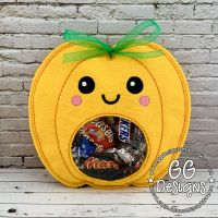 Cute Pumpkin Peekaboo Treat Bag