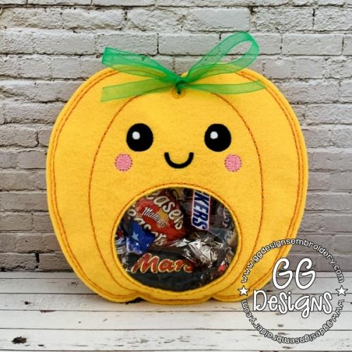 Cute Pumpkin Peekaboo Treat Bag