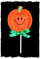 Smiley Pumpkin Sucker Cover
