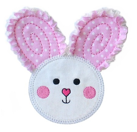 Rag-It-Up Bunny Face Applique