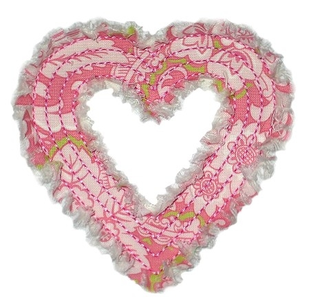 Rag-It-Up Heart Outline Applique