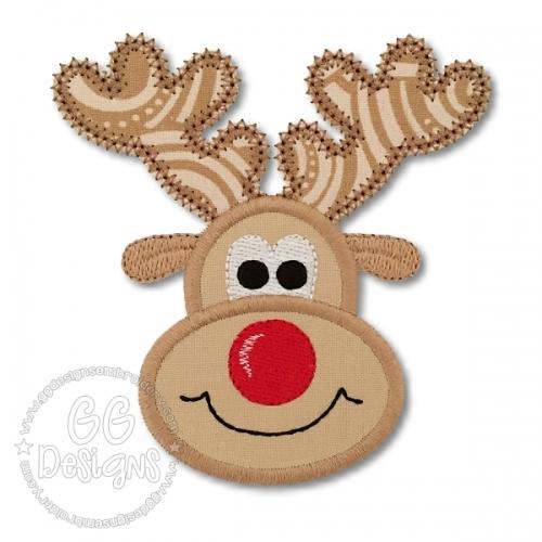 Reindeer Applique Gg Designs Embroidery