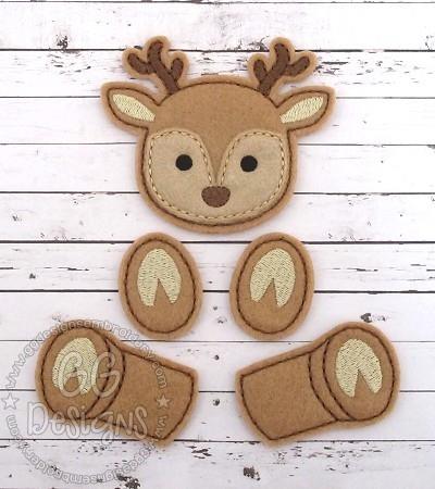 Reindeer Oversized Bow Parts Feltie