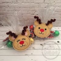 Reindeer Treat Bag Topper